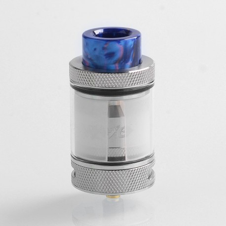 Authentic Wotofo Bravo RTA Rebuildable Tank Atomizer - Silver, Stainless Steel, 6ml, 25mm Diameter