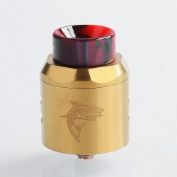 Authentic Timesvape APEX RDA Rebuildable Dripping Atomizer w/ BF Pin - Gold, Stainless Steel, 25mm Diameter