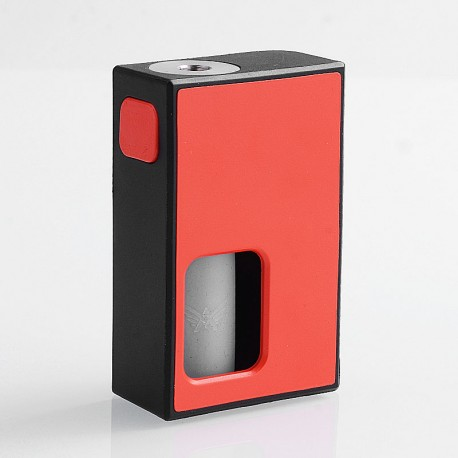 Authentic Coil Father Squonk Mini Mechanical Box Mod - Black + Red, Nylon, 8ml, 1 x 18650
