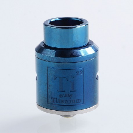Goon Ti Style RDA Rebuildable Dripping Atomizer w/ BF Pin - Blue, Stainless Steel, 24mm Diameter
