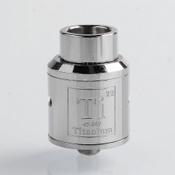 Goon Ti Style RDA Rebuildable Dripping Atomizer w/ BF Pin - Silver, Stainless Steel, 24mm Diameter