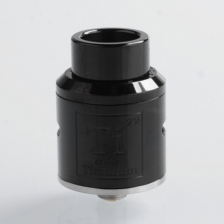 Goon Ti Style RDA Rebuildable Dripping Atomizer w/ BF Pin - Black, Stainless Steel, 24mm Diameter