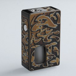Authentic SJMY Toy Brick Squonk Mechanical Box Mod - Black + Yellow, Aluminum + G10 Fiberglass, 6ml, 1 x 18650