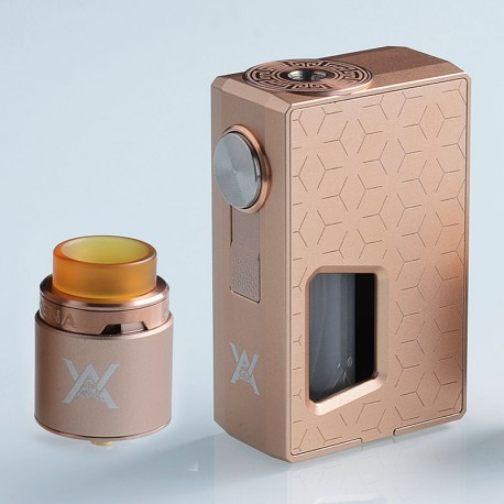 Authentic GeekVape Athena Squonk Mechanical Box Mod + BF RDA Squonker Kit - Champagne Gold, 6.5ml, 1 x 18650
