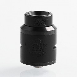 Lost Art Goon V1.5 Style RDA Rebuildable Dripping Atomizer w/ BF Pin - Black, Aluminum + Stainless Steel, 24mm Diameter