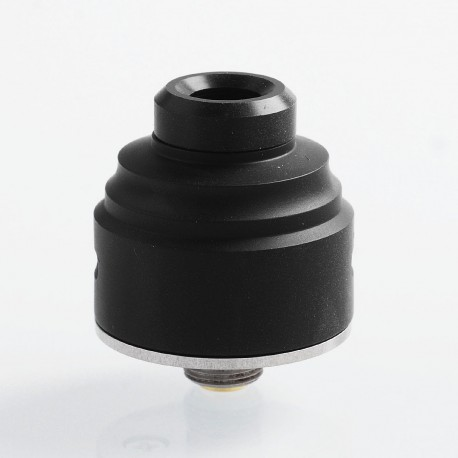 Authentic GAS Mods G.R.1 GR1 RDA Rebuildable Dripping Atomizer w/ BF Pin - Black, Stainless Steel, 22mm Diameter