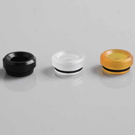 Authentic GAS Mods Replacement 810 Drip Tip Kit for G.R.1 GR1 RDA - Transparent + Black + Ultem, PC + POM + PEI