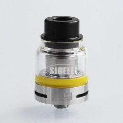Authentic Sigelei O9 Sub Ohm Tank Atomizer - Silver, 0.2 Ohm, 2ml, 24.5mm Diameter