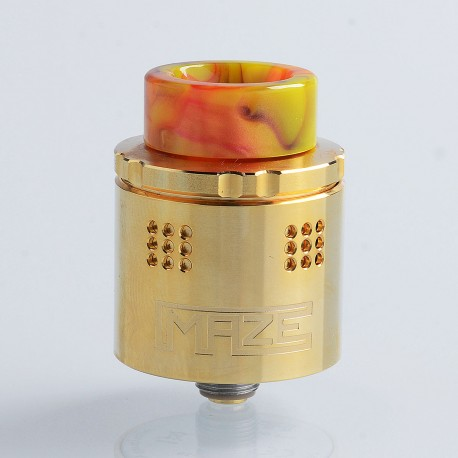 Authentic Vandy Vape Maze Sub Ohm BF RDA Rebuildable Dripping Atomizer - Gold, Stainless Steel, 2ml, 24mm Diameter