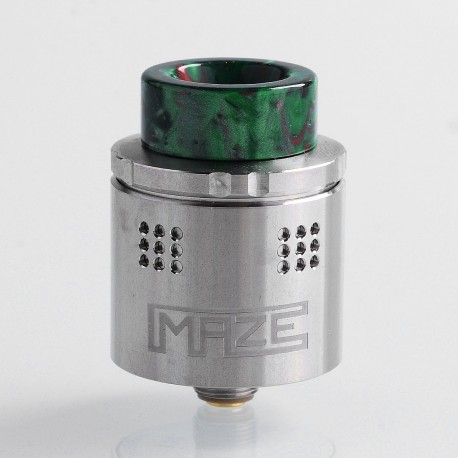 Authentic Vandy Vape Maze Sub Ohm BF RDA Rebuildable Dripping Atomzier - Silver, Stainless Steel, 2ml, 24mm Diameter