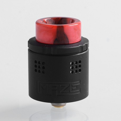 Authentic Vandy Vape Maze Sub Ohm BF RDA Rebuildable Dripping Atomizer - Black, Stainless Steel, 2ml, 24mm Diameter