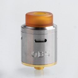 Authentic OBS Crius RDA Rebuildable Dripping Atomizer w/ BF Pin - Silver, Stainless Steel, 24mm Diameter