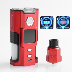 Authentic Sigelei Snowwolf Vfeng Squonk 120W TC VW Box Mod + BF RDA Kit - Red, 10~120W, 6ml, 1 x 18650 / 20700 / 21700