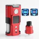 Authentic Sigelei Snowwolf Vfeng Squonk 120W TC VW Box Mod + BF RDA Kit - Red, 10~120W, 6ml, 1 x 18650 / 20700 / 21700