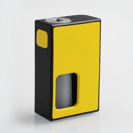 Authentic Coil Father Squonk Mini Mechanical Box Mod - Black + Yellow, Nylon, 8ml, 1 x 18650