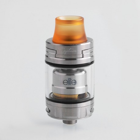 Authentic IJOY Captain Elite RTA Rebuildable Tank Atomizer - Silver, Stainless Steel, 3ml, 22.5mm Diameter