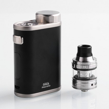 Authentic Eleaf iStick Pico 21700 100W TC VW Box Mod + Ello Tank Kit - Black, 1~100W, 1 x 18650 / 21700, 2ml, 25mm Diameter