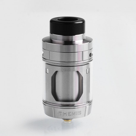 Authentic Digiflavor Themis RTA Rebuildable Tank Atomizer Dual Coil Version - Silver, Stainless Steel, 5ml, 27mm Diameter