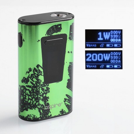 Authentic Aspire Typhon 100 100W 5000mAh TC VW Variable Wattage Box Mod - Green