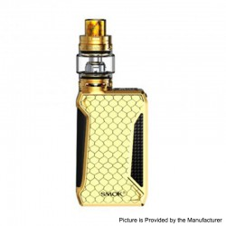Authentic SMOKTech SMOK H-Priv 2 225W TC VW Mod + TFV12 Big Baby Prince Tank Kit - Prism Gold, 1~225W, 2 x 18650, 6ml, 28mm Dia.