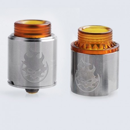 Authentic Vandy Vape Phobia RDA Rebuildable Dripping Atomizer w/ BF Pin - Silver, Stainless Steel, 24mm Diameter