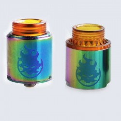 Authentic Vandy Vape Phobia RDA Rebuildable Dripping Atomizer w/ BF Pin - Rainbow, Stainless Steel, 24mm Diameter