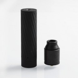 Authentic GeekVape Karma 2 Kit w/ Black Ring Mechanical Mod + Tsunami Pro RDA - Black, 1 x 18650 / 20700 / 21700, 25mm Diameter
