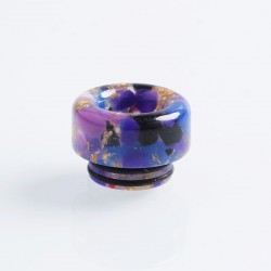 810 Anti-Spit Drip Tip for TFV8 / TFV12 Tank / 528 Goon / Kennedy / Reload RDA - Purple + Gold, Resin, 12mm