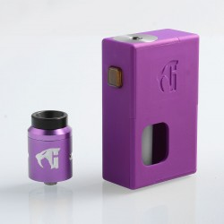 Goon Squonker Style Squonk Mechanical Box Mod + Goon 1.5 Style RDA Kit - Purple, ABS + Aluminum, 8ml, 1 x 18650, 22mm Diameter