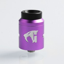 Goon 1.5 Style RDA Rebuildable Dripping Atomizer w/ BF Pin - Purple, Aluminum + Stainless Steel, 22mm Diameter
