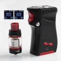 Authentic SMOKTech SMOK Mag 225W TC VW Mod + TFV12 Prince Tank Kit Right-Handed Edition - Black Red, 6~225W, 2 x 18650, 8ml