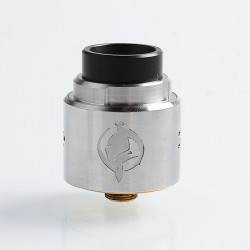 Authentic Augvape Templar RDA Rebuildable Dripping Atomizer w/ BF Pin - Silver, Stainless Steel, 24mm Diameter