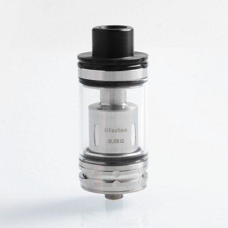 Authentic GeekVape illusion Sub Ohm Tank Clearomizer - Silver, Stainless Steel + Glass, 4.5ml, 24m Diameter