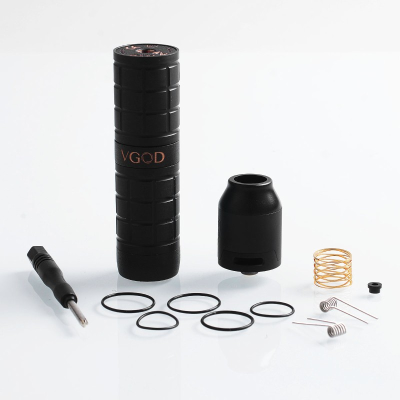 ... Authentic VGOD PRO Mech 2 Hybrid Mechanical Mod + Elite RDA Kit - Black, Delrin ...
