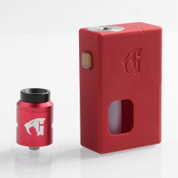 Goon Squonker Style Squonk Mechanical Box Mod + Goon 1.5 Style RDA Kit - Red, ABS + Aluminum, 8ml, 1 x 18650, 22mm Diameter