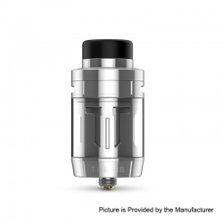 Authentic Digiflavor Themis RTA Rebuildable Tank Atomizer Mesh TPD Version - Silver, Stainless Steel, 2ml, 27mm Diameter