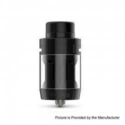 Authentic Digiflavor Themis RTA Rebuildable Tank Atomizer Mesh TPD Version - Black, Stainless Steel, 2ml, 27mm Diameter