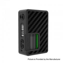 Authentic Vandy Vape Pulse BF 80W TC VW Squonk Box Mod w/ Vandy Chip - Carbon Fiber Full Black, 5~80W, 8ml, 1 x 18650 / 20700