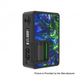 Authentic Vandy Vape Pulse BF 80W TC VW Box Mod w/ 30ml Refill Bottle - Seaweed Green, 5~80W, 8ml, 1 x 18650 / 20700, Vandy Chip