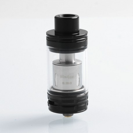 Authentic GeekVape illusion Sub Ohm Tank Clearomizer - Black, Stainless Steel + Glass, 4.5ml, 24m Diameter