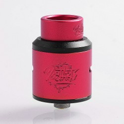 Lost Art Goon V1.5 Style RDA Rebuildable Dripping Atomizer w/ BF Pin - Red, Aluminum + Stainless Steel, 24mm Diameter