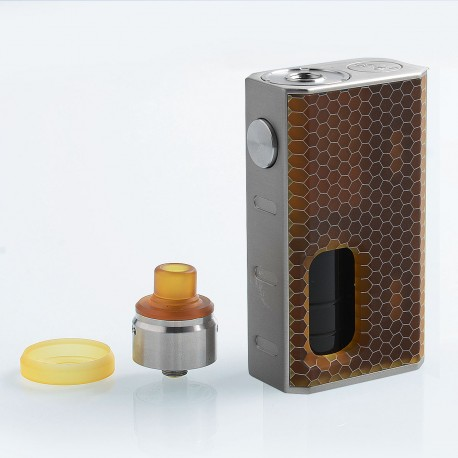 Authentic Wismec Luxotic 100W Squonk Box Mod + Tobhino BF RDA Kit - Honeycomb Resin, 7.5ml, 1 x 18650, 22mm Diameter