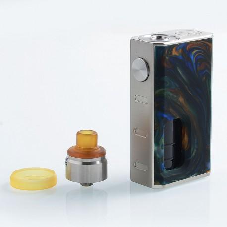 Authentic Wismec Luxotic 100W Squonk Box Mod + Tobhino BF RDA Kit - Swirled Metallic Resin, 7.5ml, 1 x 18650, 22mm Diameter