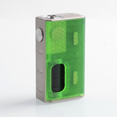 Authentic Wismec Luxotic 100W Squonk Box Mod - Green Honeycomb, 7.5ml, 1 x 18650