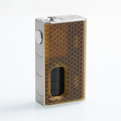 Authentic Wismec Luxotic 100W Squonk Box Mod - Honeycomb Resin, 7.5ml, 1 x 18650