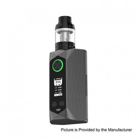 Authentic GeekVape Blade 235W TC VW Variable Wattage Box Mod + Aero Tank Kit - Matte Black, 5~235W, 2 x 18650 / 20700 / 21700
