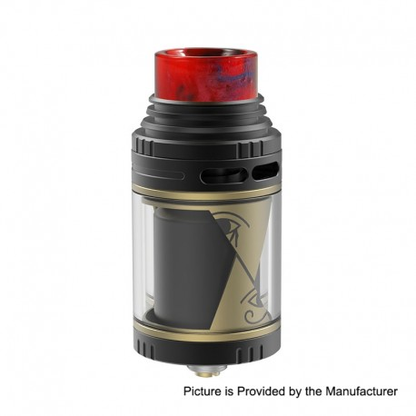Authentic Vapefly Horus RTA Rebuildable Tank Atomzier - Gold, Stainless Steel, 4ml, 25mm Diameter