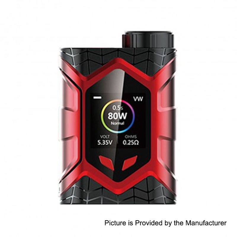 Authentic Vaptio Wall Crawler 80W Red TC VW Variable Wattage Box Mod