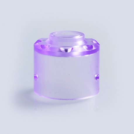 Replacement Top Cap for Hadaly Style RDA Atomizer - Purple, PMMA
