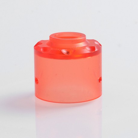 Replacement Top Cap for Hadaly Style RDA Atomizer - Red, PMMA